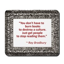 Bradbury on Books Mousepad