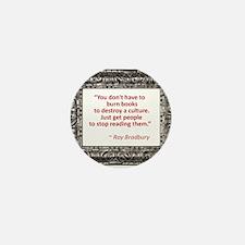 Bradbury on Books Mini Button (100 pack)