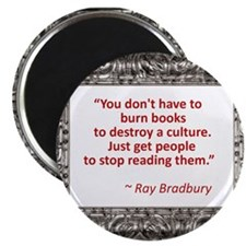 Bradbury on Books Magnet