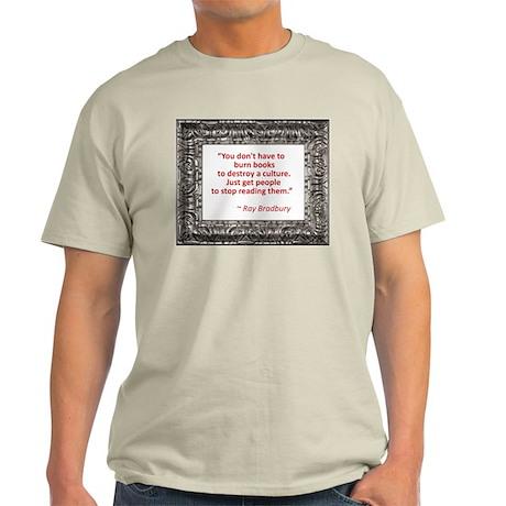 Bradbury on Books Light T-Shirt