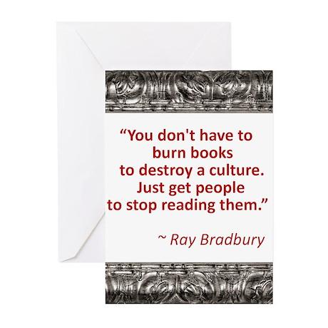 Bradbury on Books Greeting Cards (Pk of 10)