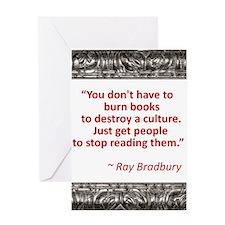 Bradbury on Books Greeting Card