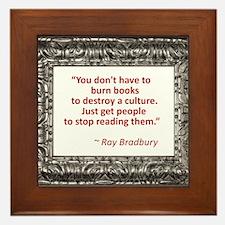 Bradbury on Books Framed Tile