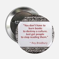 "Bradbury on Books 2.25"" Button (100 pack)"