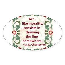 Art Like Morality Decal