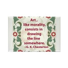 Art Like Morality Rectangle Magnet