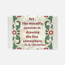 Art Like Morality Rectangle Magnet