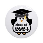 Penguin Class of 2024 Ornament (Round)