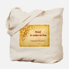Read To Live Tote Bag
