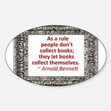 Book Collecting Decal