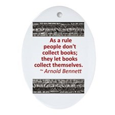 Book Collecting Ornament (Oval)