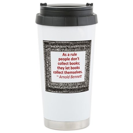 Book Collecting Stainless Steel Travel Mug