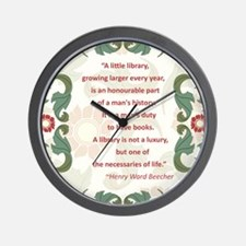 Man's Duty To Have Books Wall Clock