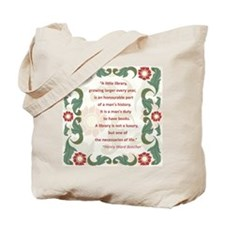 Man's Duty To Have Books Tote Bag