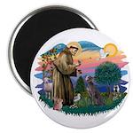 St Francis #2/ Weimaraner #1 Magnet