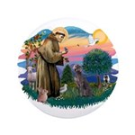 St Francis #2/ Weimaraner #1 3.5