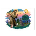 St Francis #2/ Weimaraner #1 Postcards (Package of