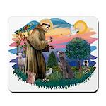 St Francis #2/ Weimaraner #1 Mousepad