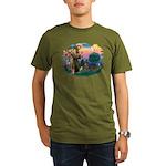 St Francis #2/ Weimaraner #1 Organic Men's T-Shirt