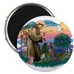 St Francis #2/ Weimaraner #1 2.25