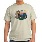 St Francis #2/ Weimaraner #1 Light T-Shirt