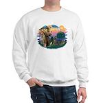 St Francis #2/ Weimaraner #1 Sweatshirt