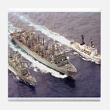 USS Rainier Ship's Image Tile Coaster