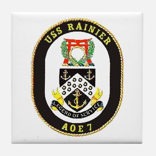 USS Rainier AOE 7 Tile Coaster