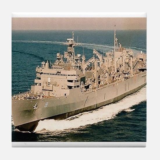 USS Arctic Ship's Image Tile Coaster