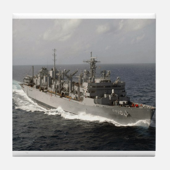 USS Bridge Ship's Image Tile Coaster