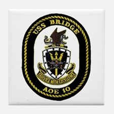 USS Bridge AOE 10 Tile Coaster