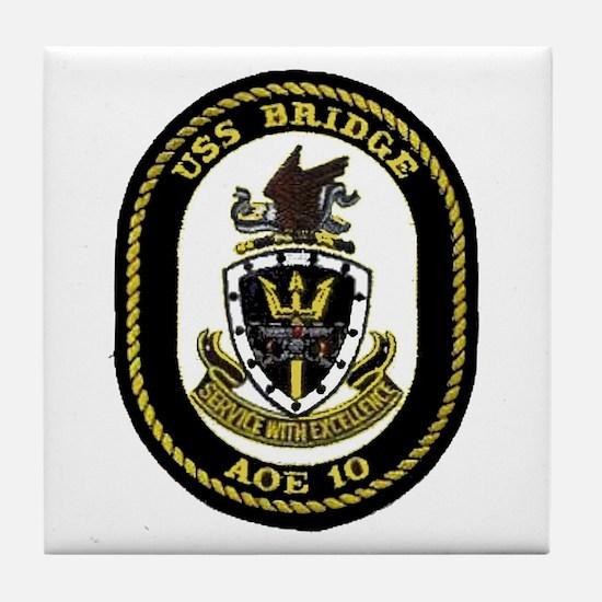 USS Bridge AOE 10 Tile Coaster