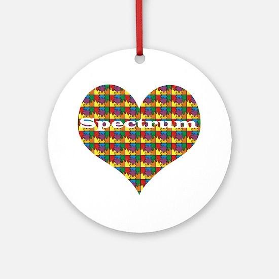 Spectrum Heart V2 Ornament (Round)
