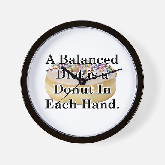 Balanced Donut Wall Clock