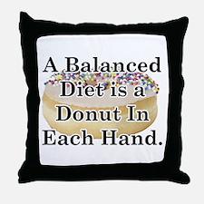 Balanced Donut Throw Pillow