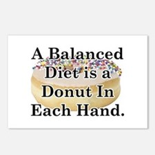 Balanced Donut Postcards (Package of 8)