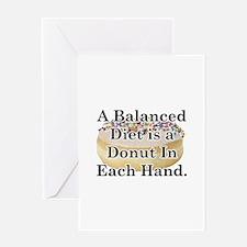 Balanced Donut Greeting Card