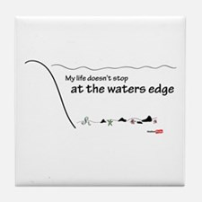 At the waters edge Tile Coaster