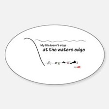 At the waters edge Decal