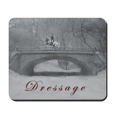 Dressage Horse, Winter Pirouette Mousepad