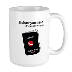 Show me your logbook Large Mug