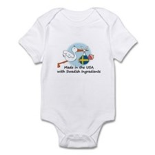 Stork Baby Sweden USA Infant Bodysuit