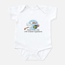 Stork Baby Sweden USA Infant Bodysuit