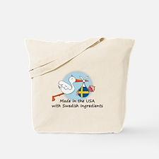 Stork Baby Sweden USA Tote Bag