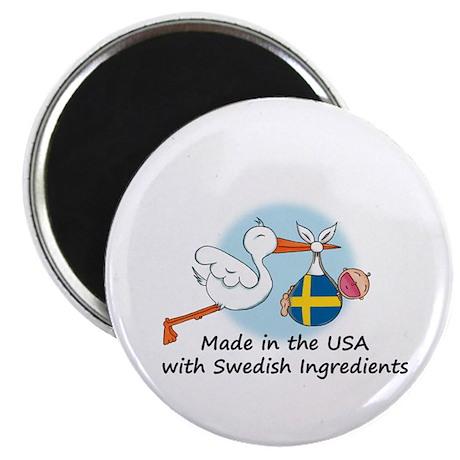 Stork Baby Sweden USA Magnet