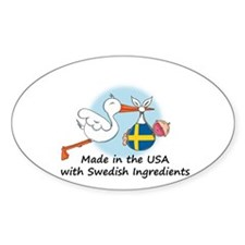 Stork Baby Sweden USA Decal