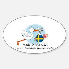 Stork Baby Sweden USA Stickers