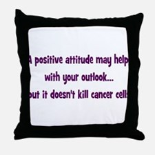 Positive Attitude... Throw Pillow