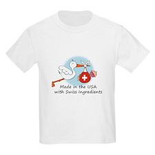 Stork Baby Switzerland USA T-Shirt