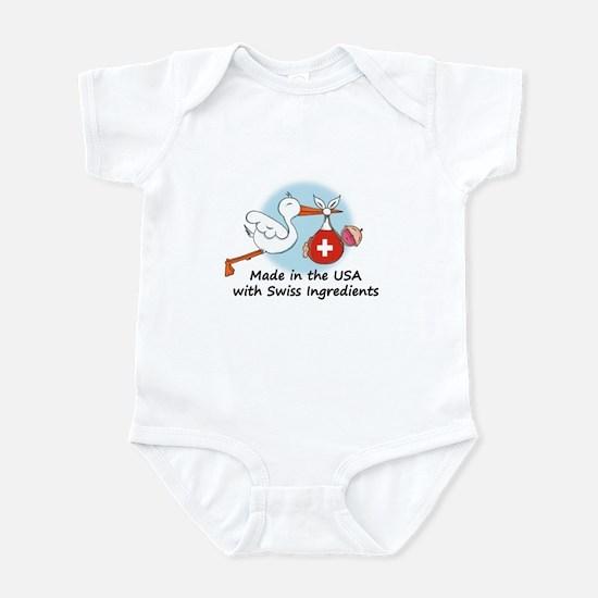 Stork Baby Switzerland USA Infant Bodysuit